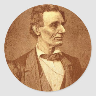 Abraham Lincoln Round Stickers