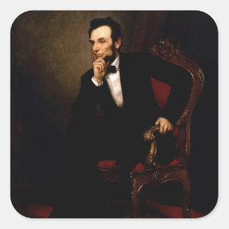 Abraham Lincoln Square Stickers