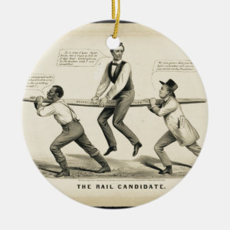 Abraham Lincoln  The Rail candidate Ornaments