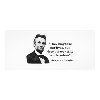Abraham Lincoln Troll Quote Customized Rack Card