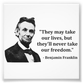 Abraham Lincoln Troll Quote Photo Print