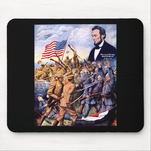 Abraham Lincoln True Sons Of Freedom Mousepad