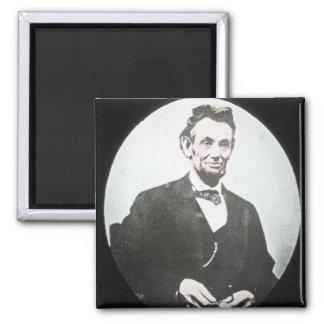 Abraham Lincoln Vintage Magic Lantern Slide Square Magnet