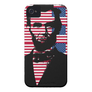Abraham Lincoln with American Flags iPhone 4 Covers