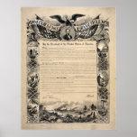 Abraham Lincoln's Emancipation Proclamation Poster