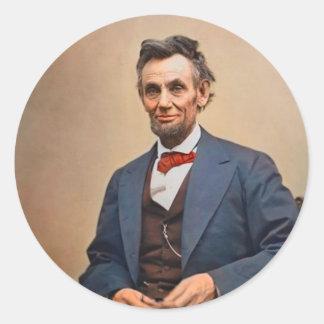 Abraham Lincolon Round Sticker