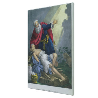 Abraham Offering Up his Son Isaac, from a Bible pr Canvas Print