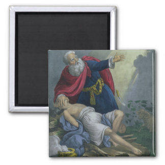 Abraham Offering Up his Son Isaac, from a Bible pr Magnet