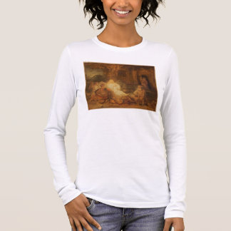 Abraham Receives the Three Angels, 1646 (oil on pa Long Sleeve T-Shirt