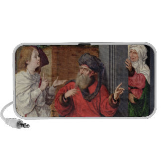 Abraham, Sara and an Angel, c.1520 iPhone Speaker