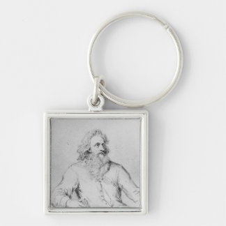 Abraham Symonds, after a portrait Silver-Colored Square Key Ring