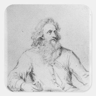 Abraham Symonds, after a portrait Square Sticker