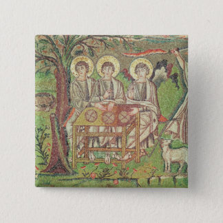 Abraham with the angels (mosaic) 15 cm square badge