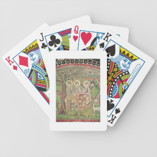Abraham with the angels (mosaic) bicycle playing cards