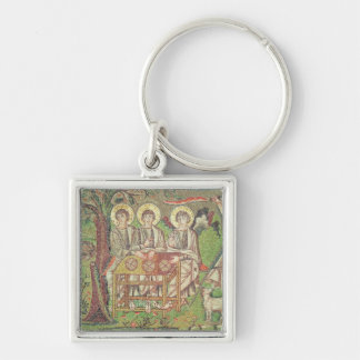 Abraham with the angels mosaic keychain