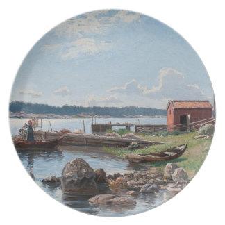 "Abrahamsson's ""Motif from Jutholmen"" plate"