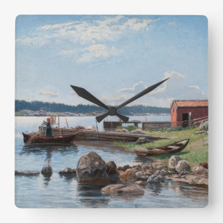 "Abrahamsson's ""Motif from Jutholmen"" wall clock"