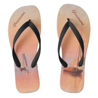 Abrahamsson's Sailboats custom monogram sandals