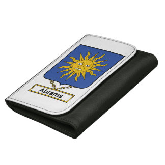Abrams Family Crest Leather Wallet For Women