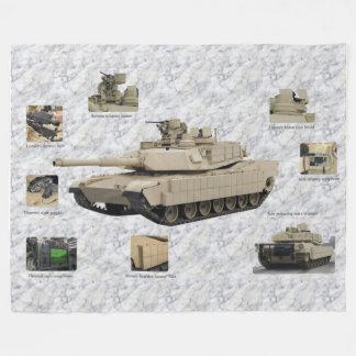 Abrams M1A2 tank Fleece Blanket