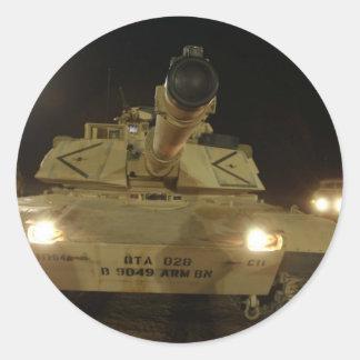Abrams Round Sticker