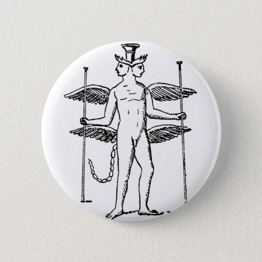 Abraxas 6 Cm Round Badge