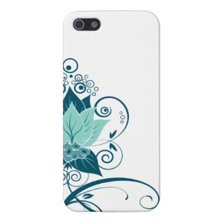 Abraxas Abstract Floral   aqua teal Case For iPhone 5/5S