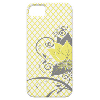 Abraxas Abstract Floral Fishnet   yellow charcoal iPhone 5 Cover