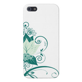 Abraxas Abstract Floral   mint emerald iPhone 5/5S Cases