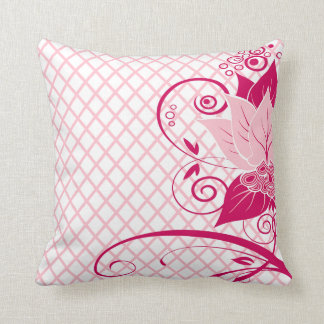 Abraxas Abstract Floral Throw Pillow