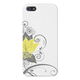 Abraxas Abstract Floral   yellow charcoal Case For The iPhone 5