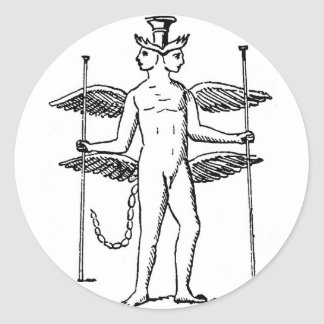 Abraxas Round Sticker