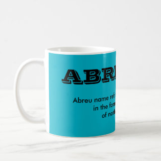 Abreu* Portuguese Surname Cup Basic White Mug