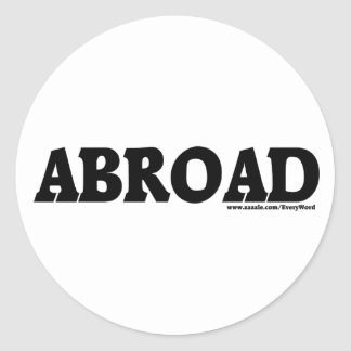 ABROAD STICKERS