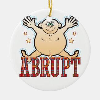 Abrupt Fat Man Round Ceramic Decoration