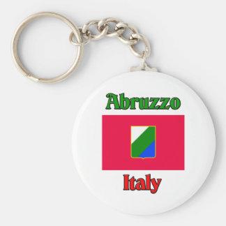 Abruzzo Italy Basic Round Button Key Ring