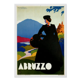 Abruzzo Italy Vintage Travel Art Posters