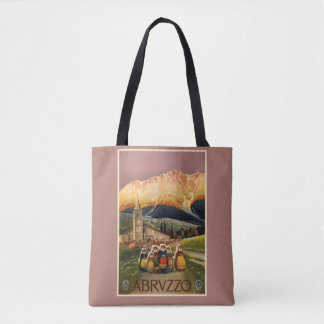 Abrvzzo Italy vintage travel bags Tote Bag