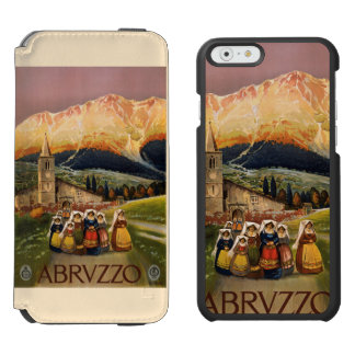 Abrvzzo Italy vintage travel cases Incipio Watson™ iPhone 6 Wallet Case