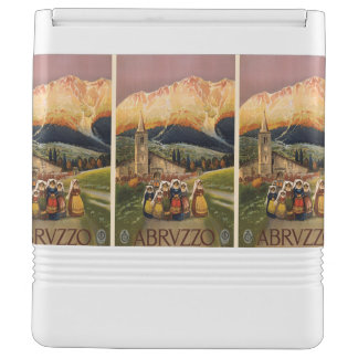 Abrvzzo Italy Vintage Travel custom cooler Igloo Cooler