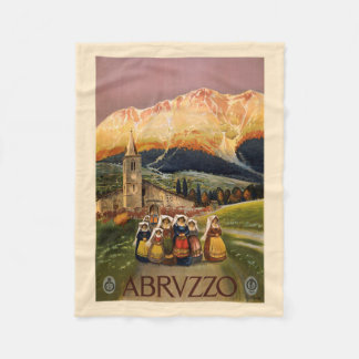 Abrvzzo Italy vintage travel fleece blanket