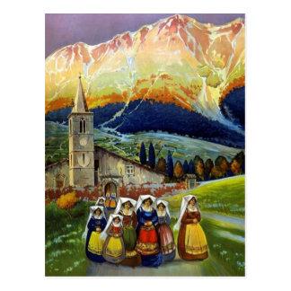 Abrvzzo Italy Vintage Travel Postcard