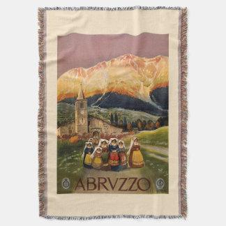 Abrvzzo Italy vintage travel throw blanket
