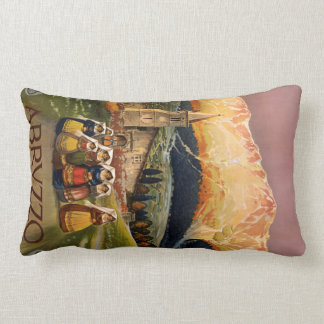 Abrvzzo Italy vintage travel throw pillow