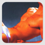 Abs Burning - original painting Sticker
