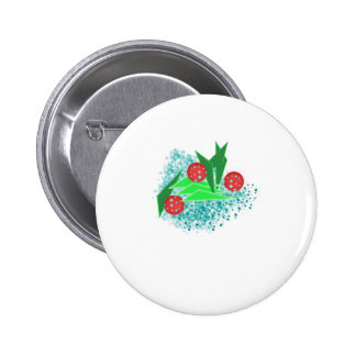 ABS New Year tree 6 Cm Round Badge