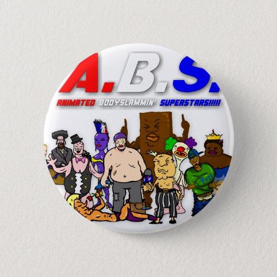 ABS WRESTLING!!! 6 CM ROUND BADGE