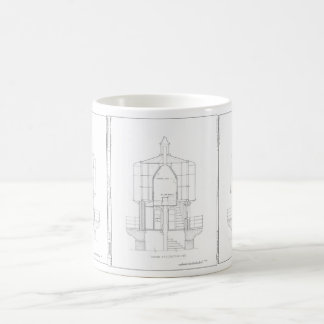 Absecon Lighthouse Blueprint Coffee Mug
