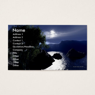 Absence Of Strife Business Card Template