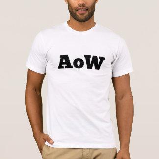 """Absence of Wax / """"AoW"""" logo t-shirt"""